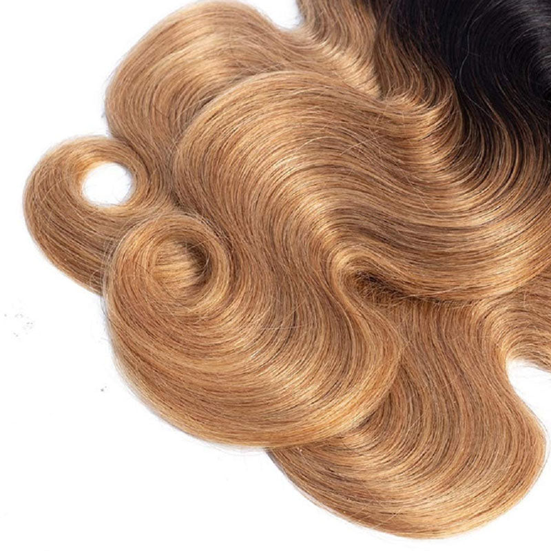 3 Bundles of Ombre Human Hair Weave Best 1b 27 Hair Body Wave 10A High Quality 100% Human Hair - Truelovewigs.com