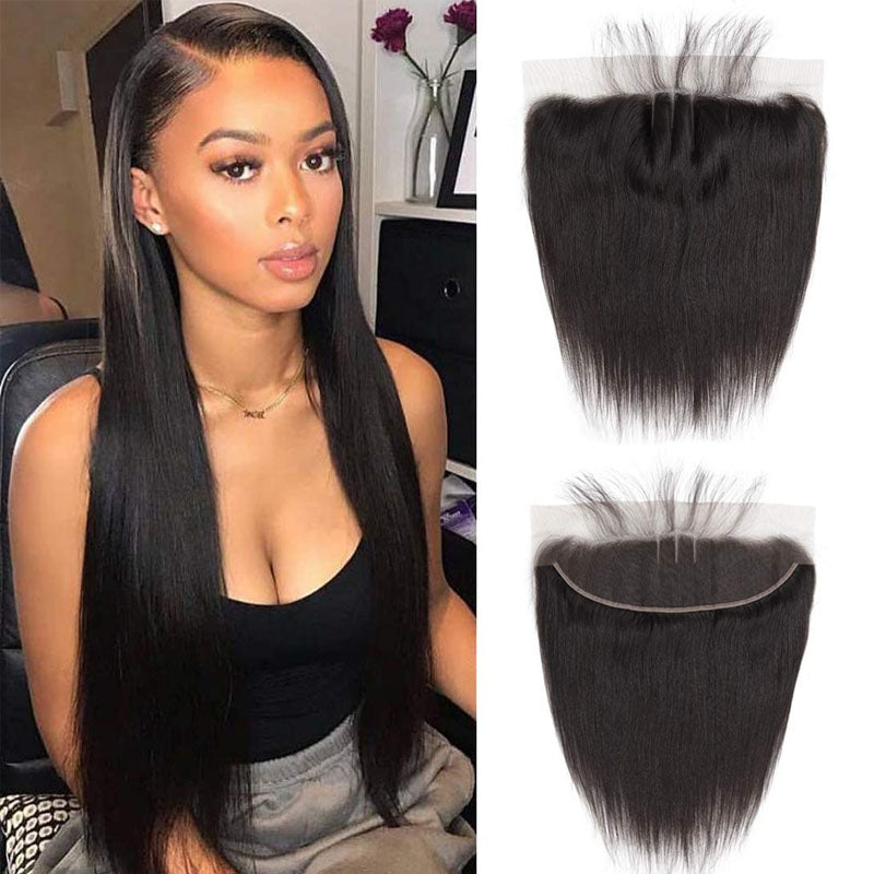 Swiss Lace Frontal Best 13x4 Straight Frontal 10A Top Pre Plucked Lace Frontal 100% Human Hair - Truelovewigs.com