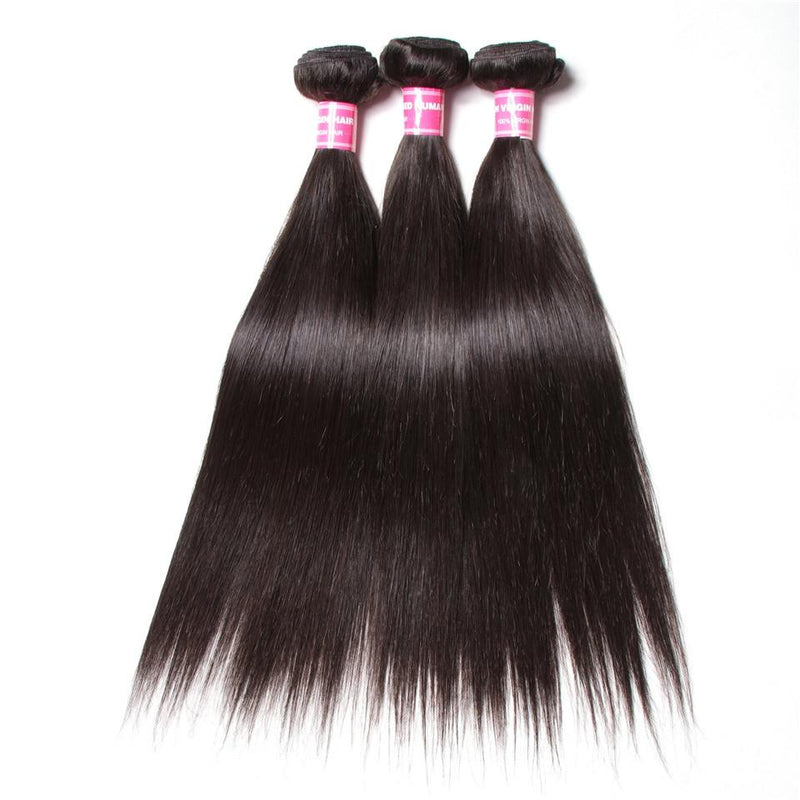 True Love Wigs Straight Hair 3 Bundles With 360 Lace Frontal 10A Grade - Truelovewigs.com
