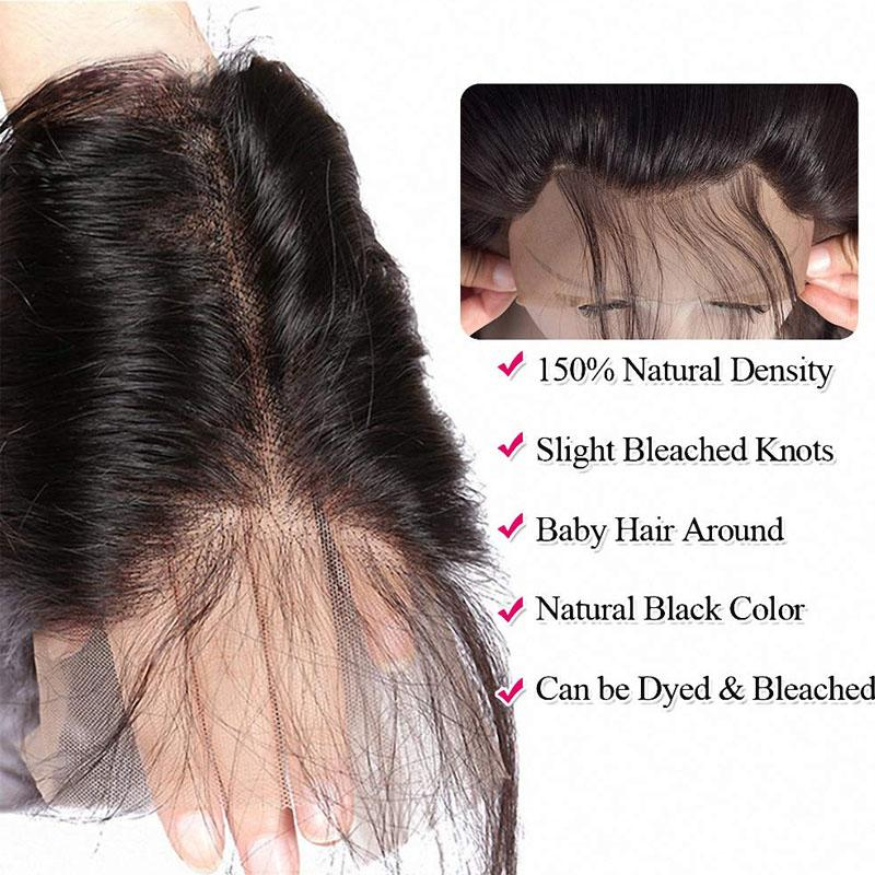True Love Wigs Straight Hair Frontal Hair Closure 100% Human Virgin Hair 1 Piece - Truelovewigs.com