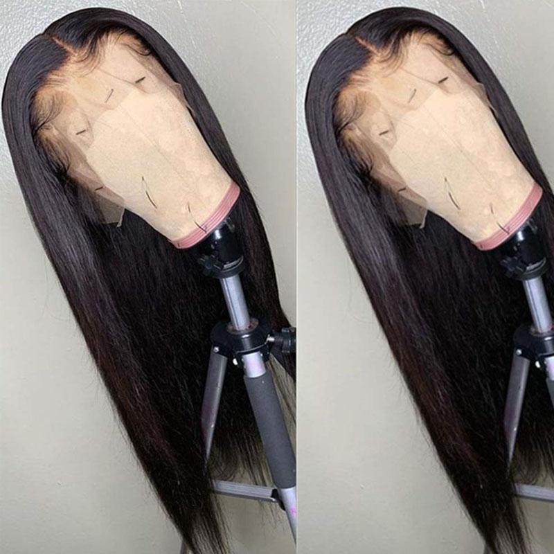360 Lace Frontal Wig Pre Plucked With Baby Hair 100% Human Remy Hair Wig Straight Human Hair Wigs - Truelovewigs.com