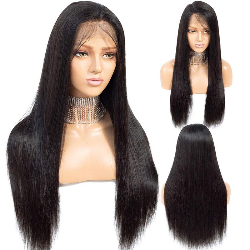 Long Human Hair Wigs Straight Hair 100% Remy Hair 10a High Quality Long Wigs 13x4 Lace Front Wigs - Truelovewigs.com