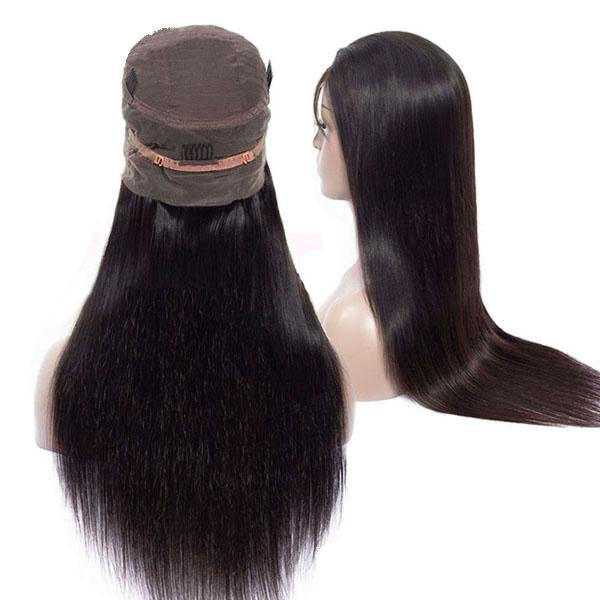 Pre Plucked Full Lace Wigs With Baby Hair 100% Human Remy Hair Straight Human Hair Wigs - Truelovewigs.com