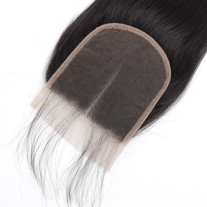 4 by 4 Lace Closure Top Swiss Lace Closure Straight Closure 10A 100% Human Hair Closure - Truelovewigs.com