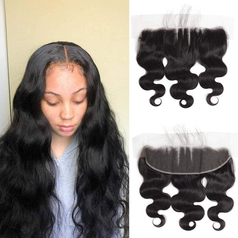 Swiss Lace Frontal Best Ear to Ear Lace Frontal Closure 13x4 Body Wave Frontal 100% Human Hair - Truelovewigs.com