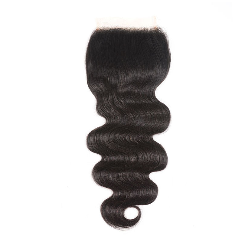 Lace Closure 4x4 Human Hair Closure Body Wave Closure 10A Pre Plucked Closure with Baby Hair - Truelovewigs.com