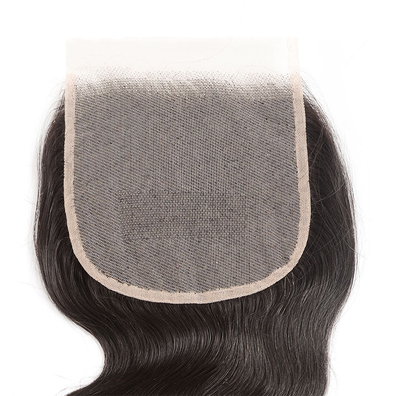Transparent Lace Closure 4x4 Human Hair Closure Body Wave Closure 10A Pre Plucked Closure with Baby Hair - Truelovewigs.com