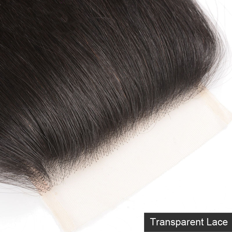 Lace Closure Straight Closure 4x4 Lace Closure Weave 10A Pre Plucked Closure with Baby Hair - Truelovewigs.com
