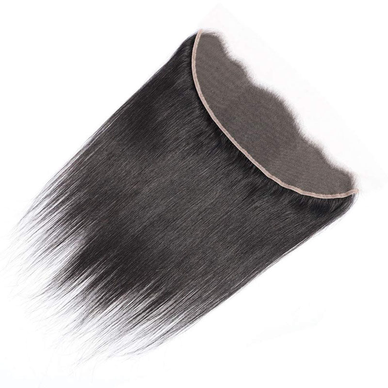 Transparent Frontal Lace 10A Pre Plucked Lace Frontal 13x4 Straight Frontal 100% Human Hair 150% Density - Truelovewigs.com