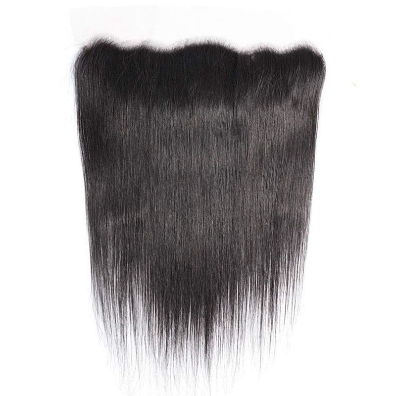 Frontal Lace 10A Pre Plucked Lace Frontal 13x4 Straight Frontal 100% Human Hair 150% Density - Truelovewigs.com