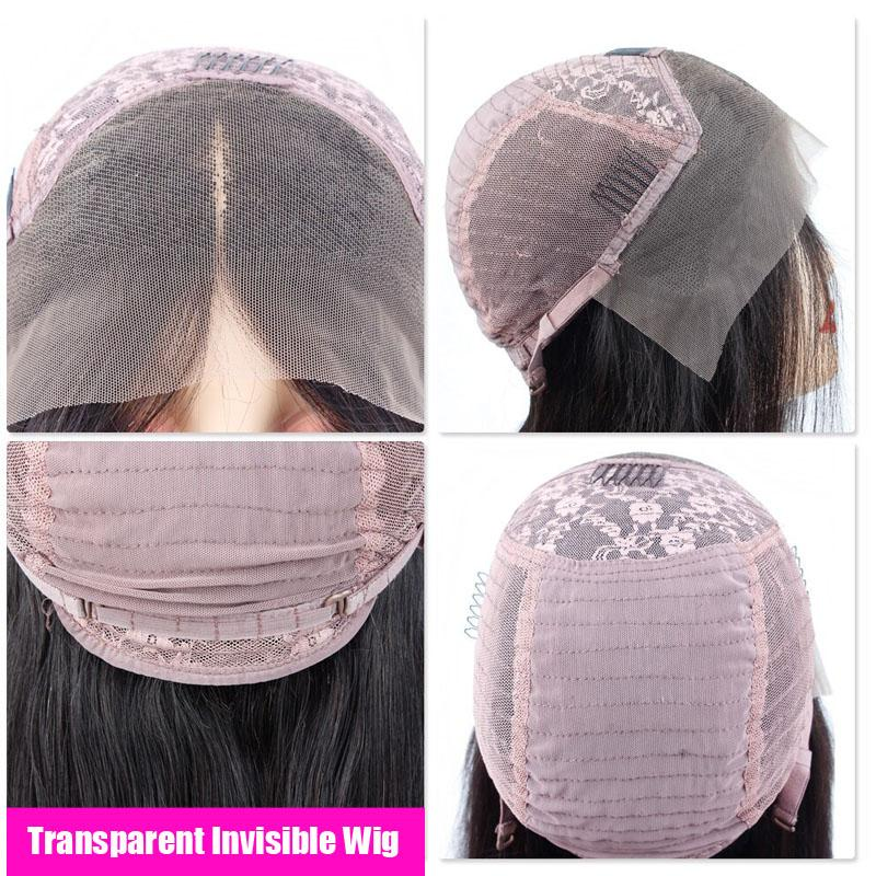 Transparent Lace Front Wigs with Baby Hair 100% Human Hair Wigs 13x4 Pre Plucked Water Wave Wig - Truelovewigs.com