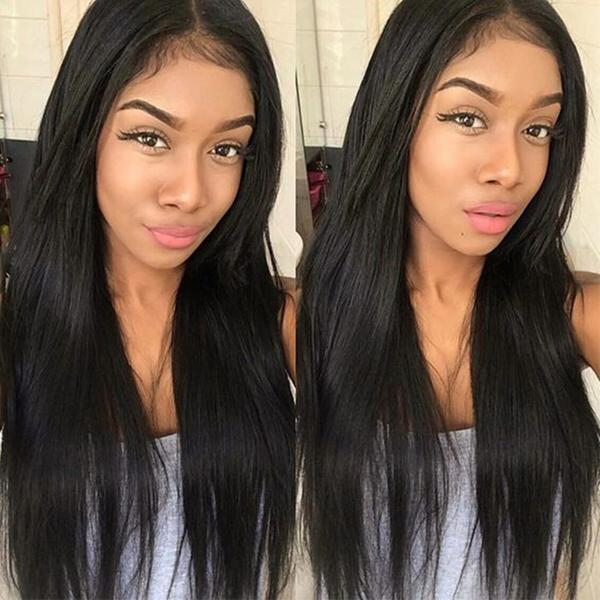 Brazilian U Part Wig Human Hair Pre Plucked Hairline With Baby Hair Straight Hair Wigs 10A Hair Natural Color - Truelovewigs.com