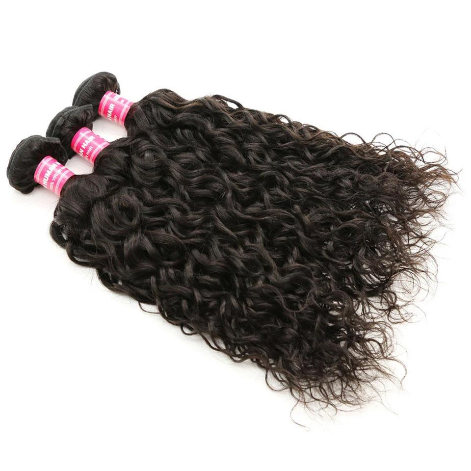 Water Wave Hair 3 Bundles With 4*4 Lace Closure, Unprocessed Human Hair Extension - Truelovewigs.com