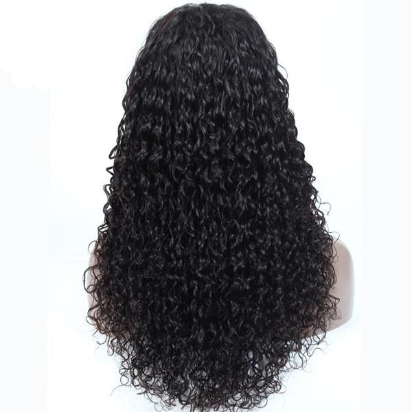 360 Lace Frontal Wig Pre Plucked With Baby Hair 100% Human Remy Hair Water Wave Wig - Truelovewigs.com