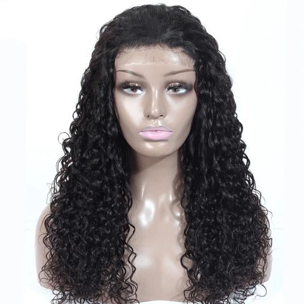 Human Hair Lace Front Wigs 13x6 Pre Plucked With Baby Hair 100% Human Hair Water Wave Wig - Truelovewigs.com