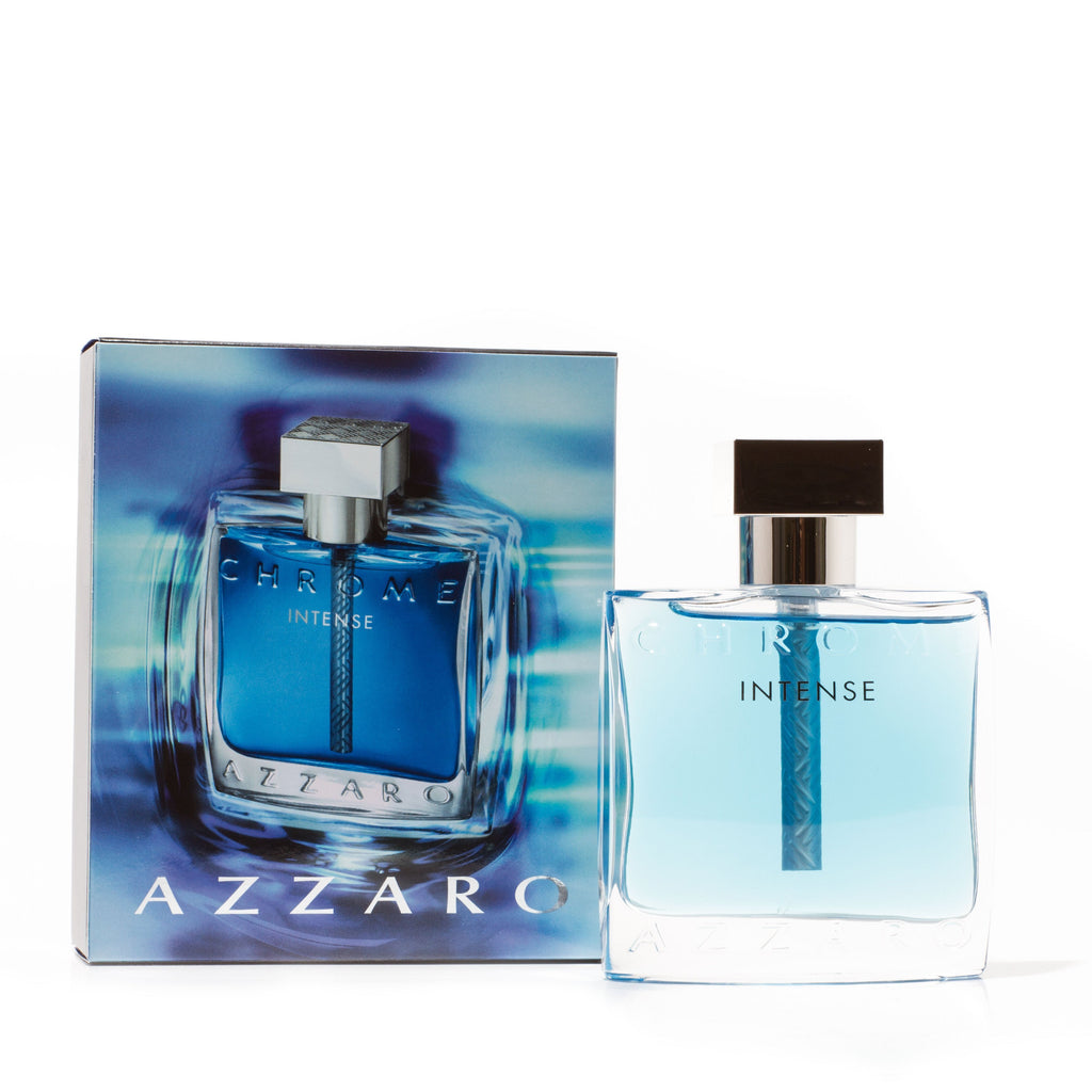 Chrome Intense Eau de Toilette Spray for Men by Azzaro 1.7 oz.
