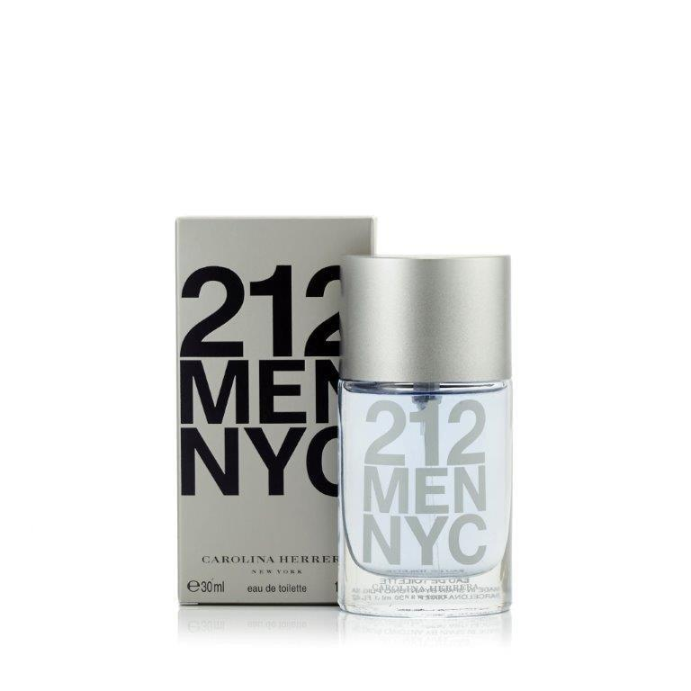212 Men Eau de Toilette Spray for Men by Carolina Herrera 1.0 oz.