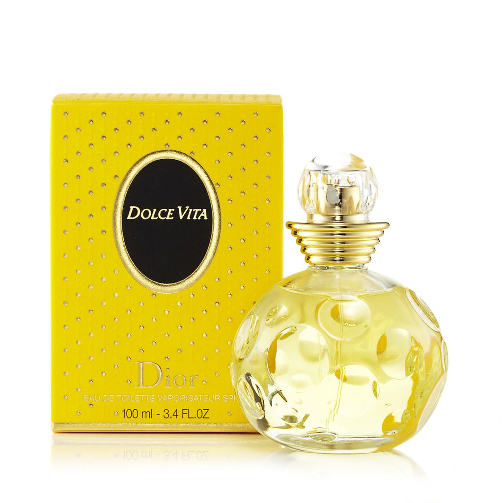 Dolce Vita Eau de Toilette Spray for Women by Dior 3.4 oz.