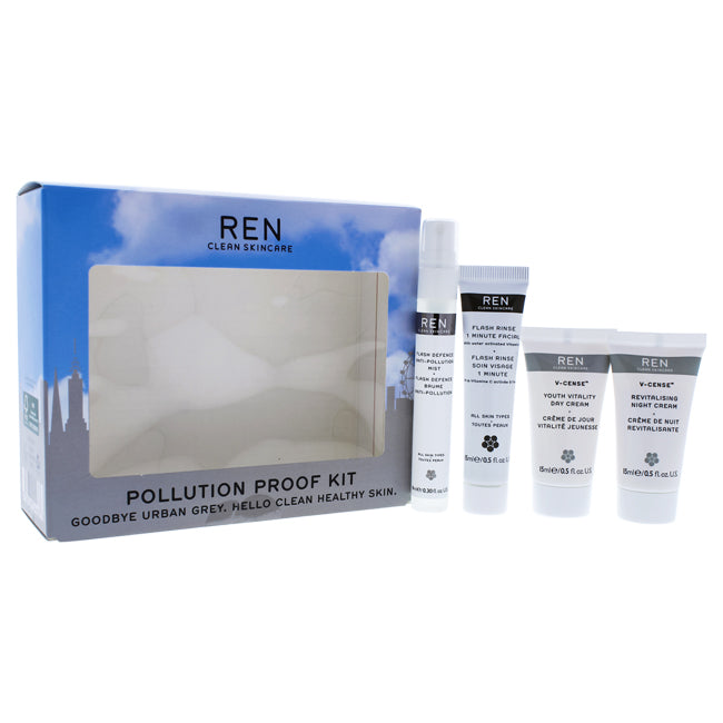 Pollution Proof Kit by REN for Unisex - 4 Pc Kit