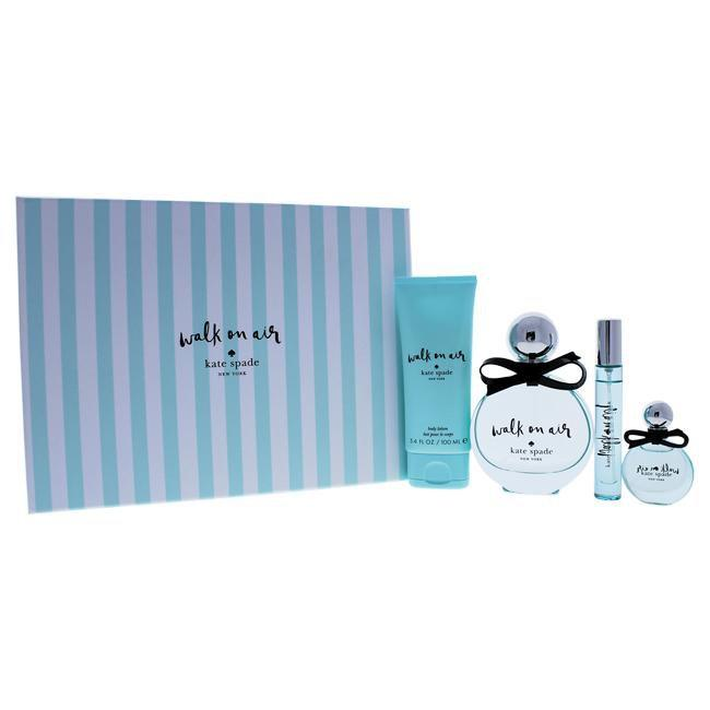 Walk On Air by Kate Spade for Women - 4 Pc Gift Set 3.4oz EDP Spray, 0.34oz EDP Spray, 0.25oz EDP Sp