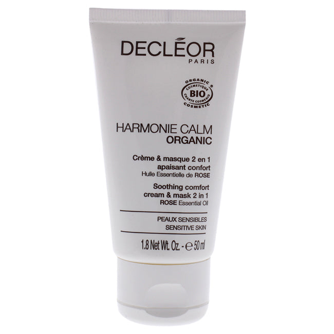 Harmonie Calm Organic Soothing Comfort 2-In-1 Cream and Mask by Decleor for Unisex - 1.8 oz Cream
