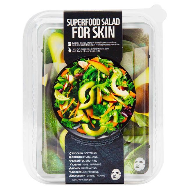 Superfood Salad  Facial Sheet Mask For Skin - Avocado by Farm Skin for Unisex - 7 x 0.84 oz Mask