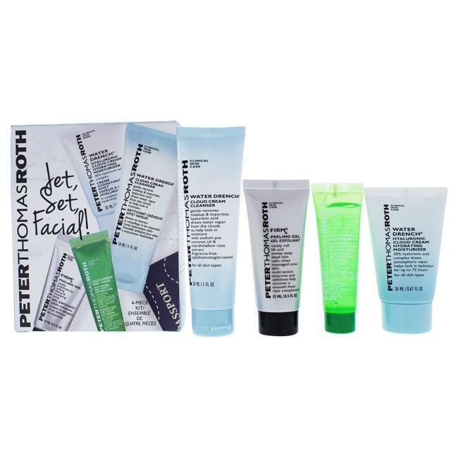 Jet Set Facial by Peter Thomas Roth for Unisex - 4 Pc Kit 0.5oz Firmx Peeling Gel, 0.47oz Cucumber G