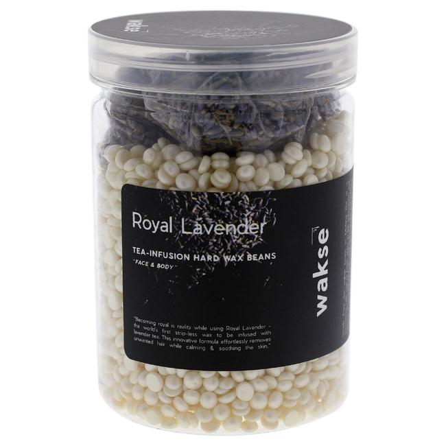 Royal Lavender Tea Infusion Hard Wax Beans by Wakse for Unisex - 10 oz Wax