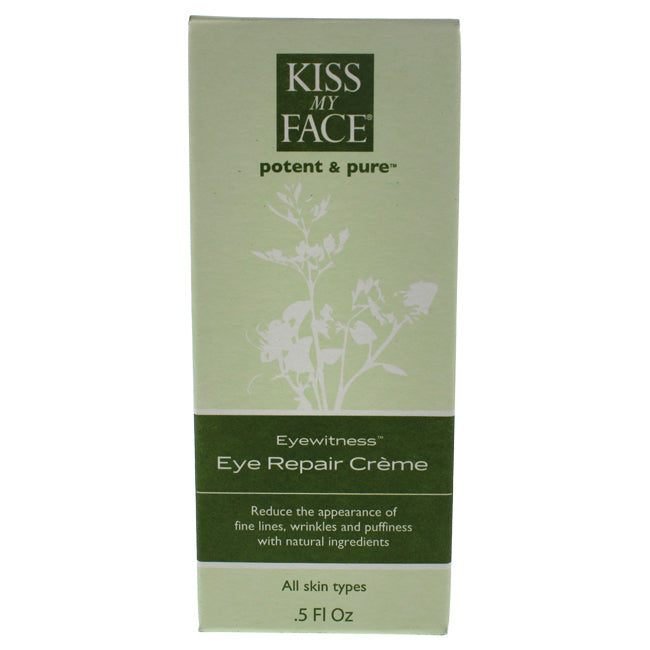 Eyewitness Eye Repair Cream by Kiss My Face for Unisex - 0.5 oz Cream
