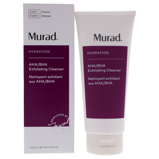AHA-BHA Exfoliate Cleanser by Murad for Unisex - 6.75 oz Cleanser