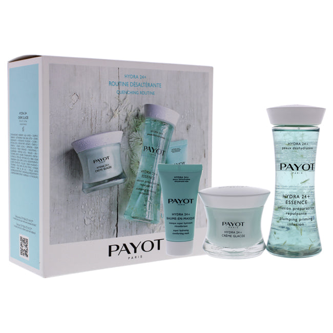 Hydra 24 Plus Quenching Routine by Payot for Women - 3 Pc 1.6oz Cream, 4.2oz Infusion, 0.5oz Mask