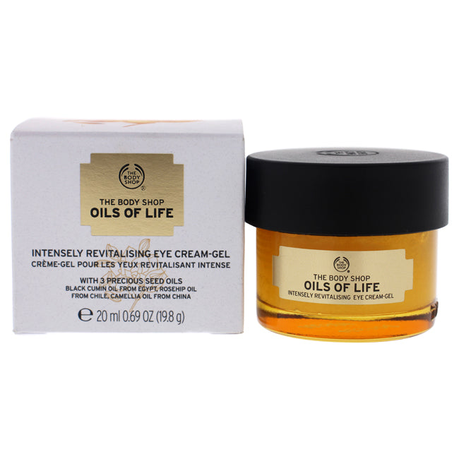 Oils of Life Intensely Revitalising Eye Cream Gel by The Body Shop for Unisex - 0.69 oz Gel