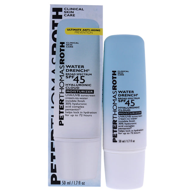 Water Drench Cloud Cream Moisturizer SPF 45 by Peter Thomas Roth for Unisex - 1.7 oz Cream