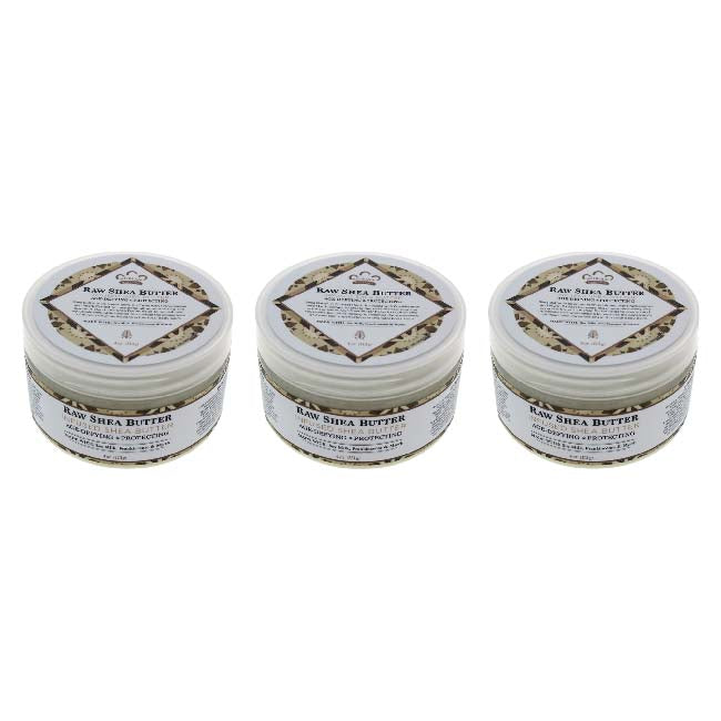 Raw Shea Butter Infused Shea Butter by Nubian Heritage for Unisex - 4 oz Moisturizer - Pack of 3