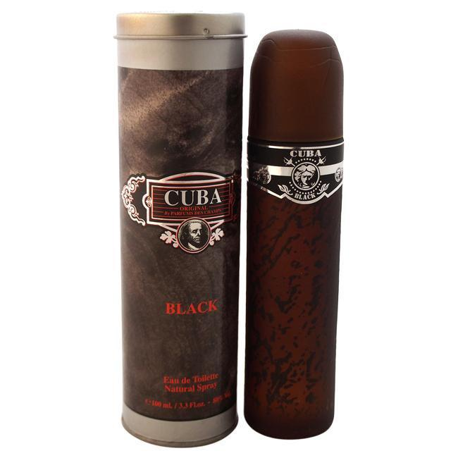 CUBA BLACK BY CUBA FOR MEN -  Eau De Toilette SPRAY