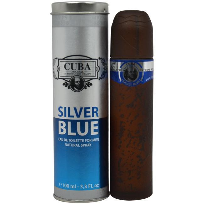 CUBA SILVER BLUE BY CUBA FOR MEN -  Eau De Toilette SPRAY