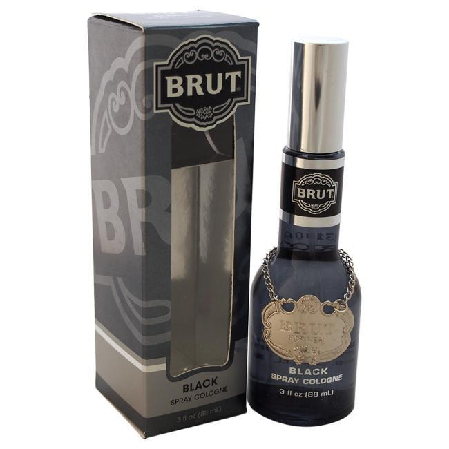 BRUT BLACK BY FABERGE CO. FOR MEN -  Eau De Cologne SPRAY