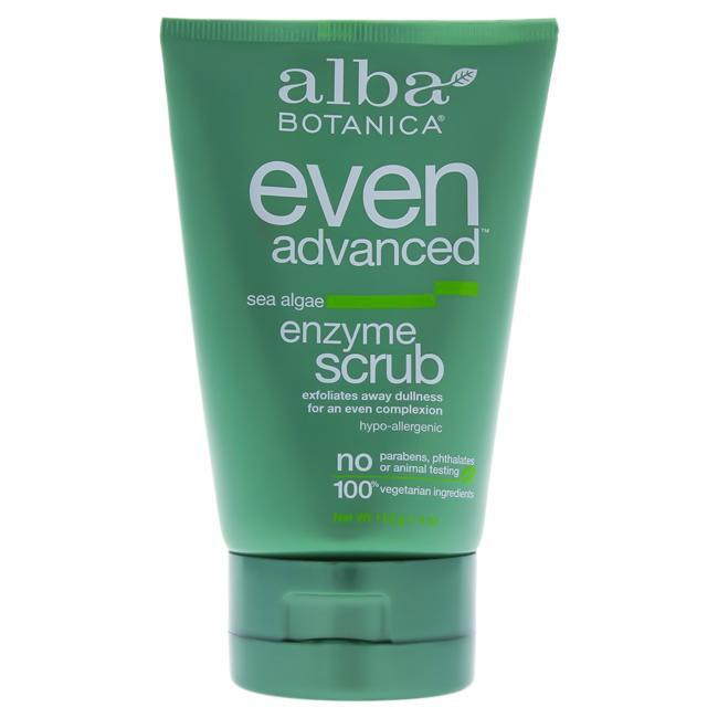 Even Advanced Sea Algae Enzyme Scrub by Alba Botanica for Unisex - 4 oz Facial Scrub