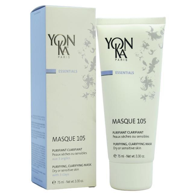 Masque 105 Purifying Clarifying Mask - Dry or Sensitive Skin by Yonka for Unisex - 3.3 oz Mask