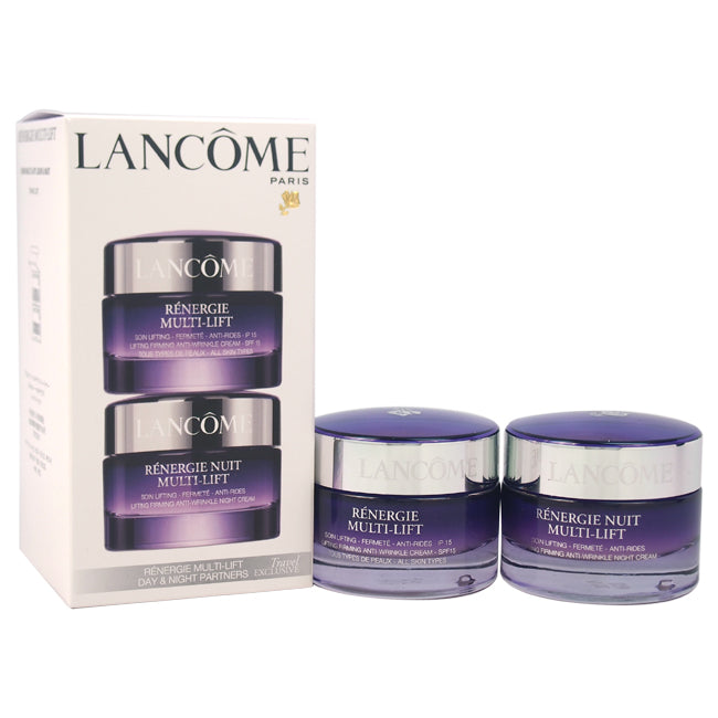 Renergie Multi-Lift Day & Night Multi-Lift Partners - All Skin Types by Lancome for Unisex - 2 Pc Kit 1.7oz Renergie Multi-Lift Lifting Firming Anti-Wrinkle Cream SPF 15, 1.7oz Renergie Multi-Lift Lifting Firming Anti-Wrinkle Night Cream