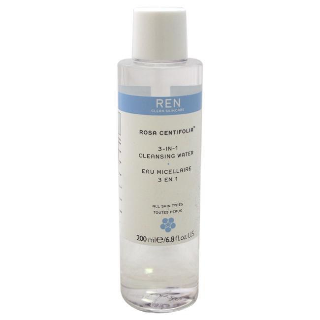 Rosa Centifolia 3-in-1 Cleansing Water by REN for Unisex - 6.8 oz Cleansing Water