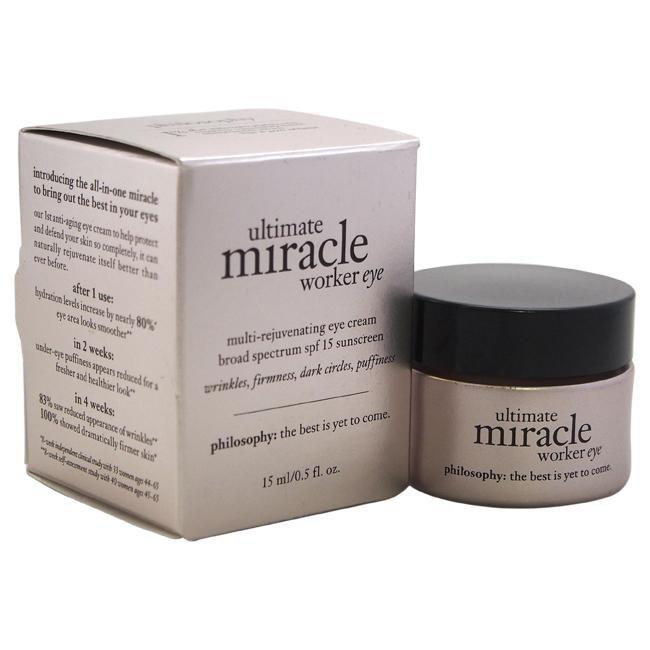 Ultimate Miracle Worker Eye SPF 15 Sunscreen by Philosophy for Unisex - 0.5 oz Eye Cream