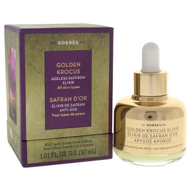 Golden Krocus Ageless Saffron Elixir by Korres for Unisex - 1.01 oz Treatment