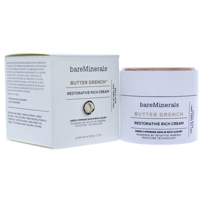 Butter Drench Restorative Rich Cream by bareMinerals for Unisex - 1.7 oz Cream