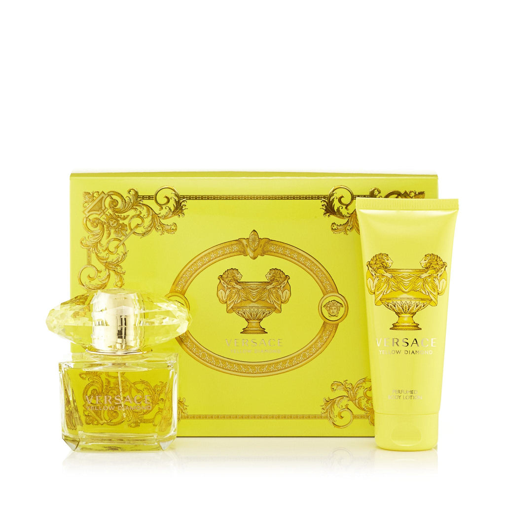 Yellow Diamond Gift Set Eau de Toilette, Body Lotion and Bag for Women by Versace 3.0 oz.