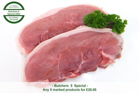 Butchers Quality Pork Steaks (454g)