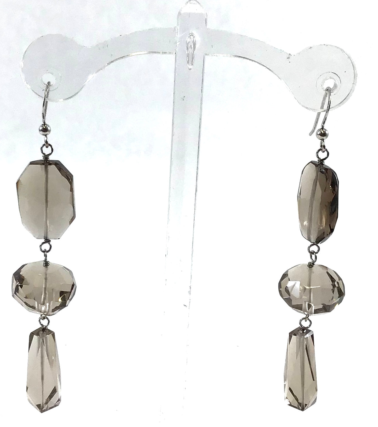 Primary Photo - BRAND:    CLOTHES MENTOR <BR>STYLE: EARRINGS <BR>COLOR: BROWN <BR>OTHER INFO: SMOKEY QUARTZ EARRINGS - <BR>SKU: 213-213118-28714