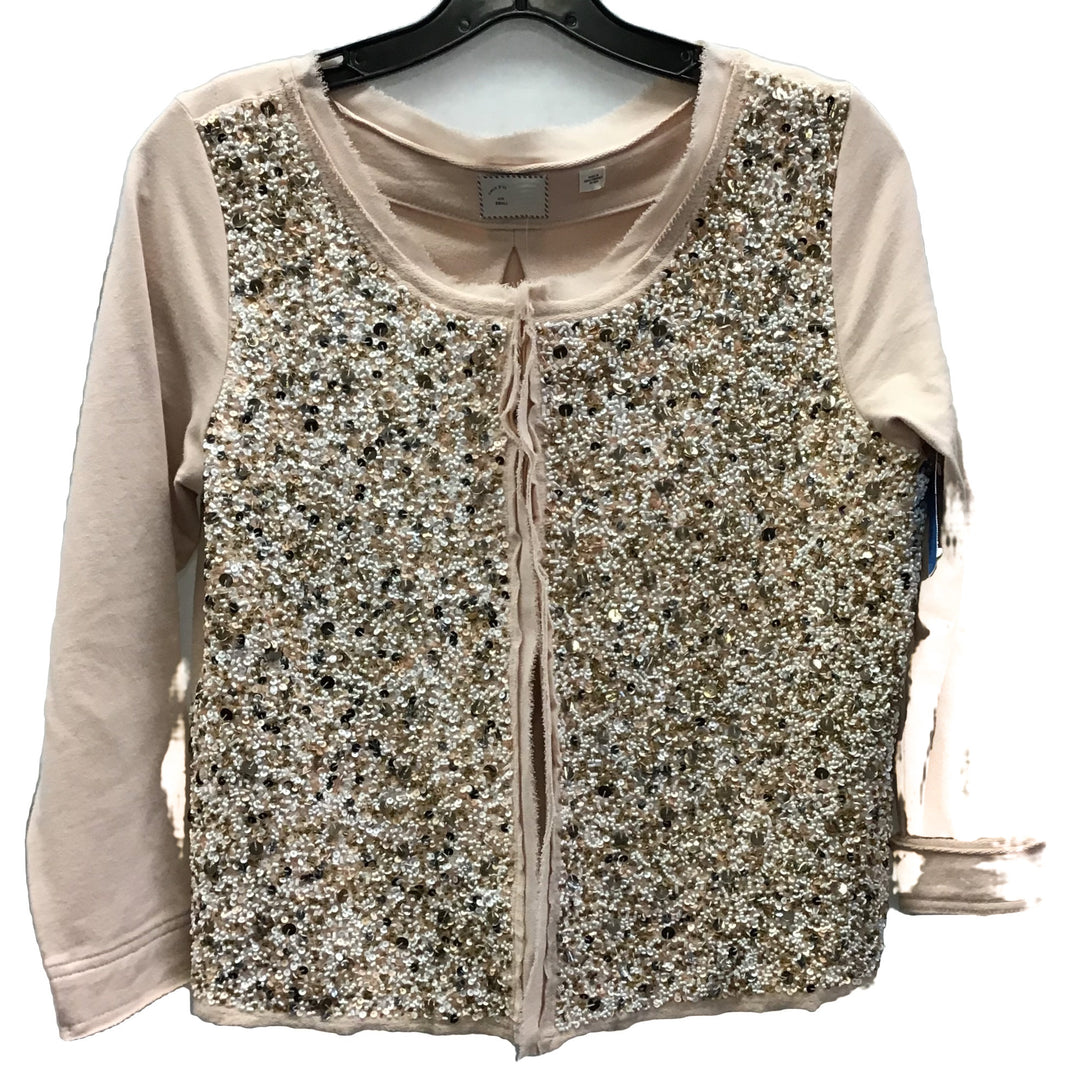 Primary Photo - BRAND: ANTHROPOLOGIE <BR>STYLE: SWEATER CARDIGAN LIGHTWEIGHT <BR>COLOR: SPARKLES <BR>SIZE: S <BR>SKU: 213-213118-23329