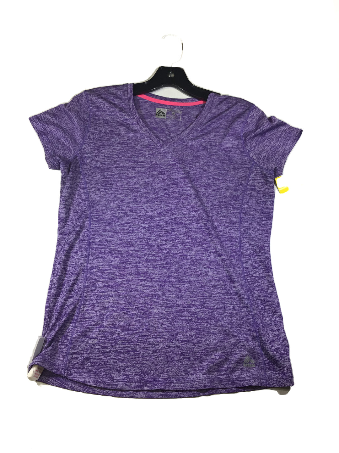 Primary Photo - BRAND: RBX <BR>STYLE: ATHLETIC TOP SHORT SLEEVE <BR>COLOR: PURPLE <BR>SIZE: M <BR>SKU: 213-213143-6939