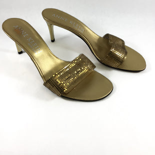 Primary Photo - BRAND: ANNE KLEIN STYLE: SHOES DESIGNER COLOR: GOLD SIZE: 9 SKU: 213-213118-32562